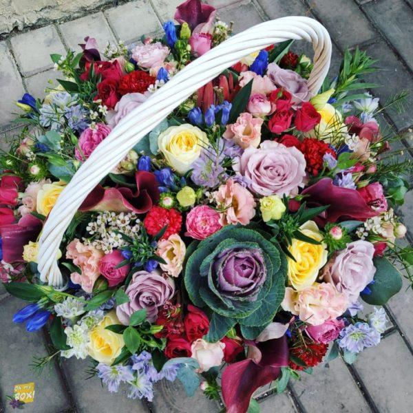 Корзина цветов #87
