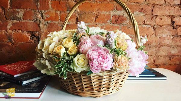 Корзина цветов #92